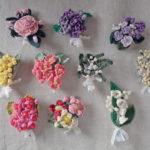 Pollyannaの新作、手編みのお花のブローチ